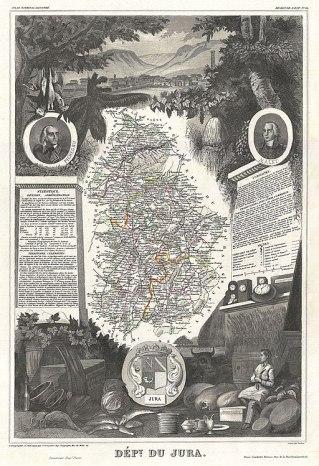 1852_Levasseur_Map_of_the_Department_du_Jura,_France,_France_-_Geographicus_-_Jura-levasseur-1852